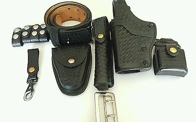 """36"""" Police Duty Basket weave Belt with holster and accessories"""