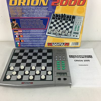 Boxed Millennium Orion 2000 Electronic Chess + Checkers COMPLETE