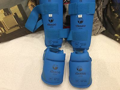 Guards Pads Tokaido WKF Approved Shin & Instep Guards Pads Blue Xtra Small