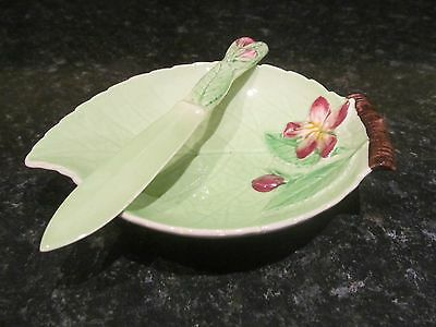 Carltonware Apple Blossom Butter Dish and Butter Knife - Boxed
