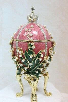"""Faberge """"Lily of the Valley""""Egg Emperor Nicholas II Replica,hand-made,large RARE"""