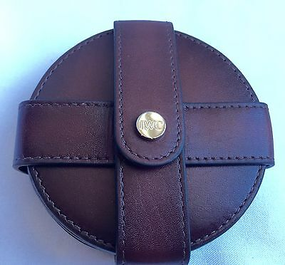 IWC Watches Leather Coasters Brown Branded Set of 6 Unique Gift NIB