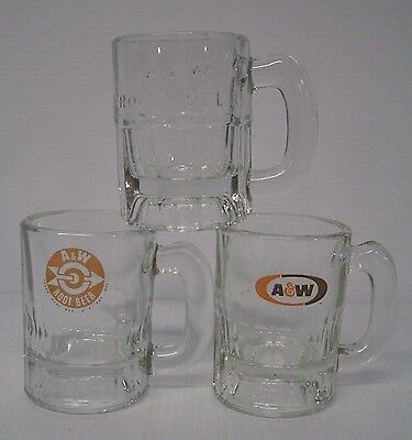 3 Different Baby A&W Root Beer Mugs