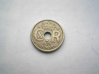 Early Ww11 -10 Ore Coin From  Denmark-Dated 1939-Nice Grade