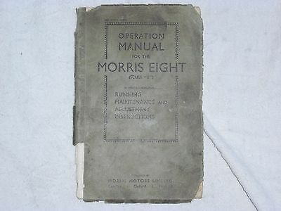 """Operation Manual For The Morris Eight (Series """"e"""")"""