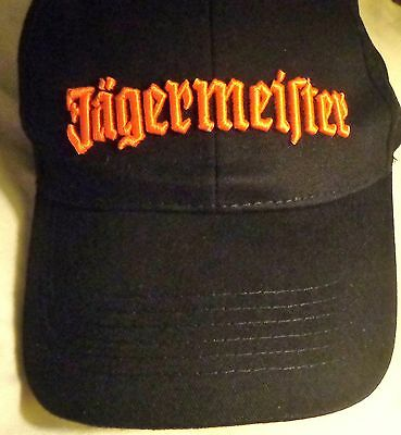 Jagermeister - Baseball Style Golf Hat - Black...Raised Lettering on Front...NEW