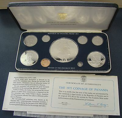 1975 Coins Of The Republic Of Panama Proof Set In Original Folder, 5.69 oz