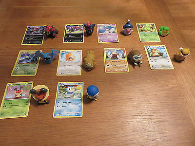 10 Plastic Pokemon Figures with collector's cards incl shiny Zoroark 71/114