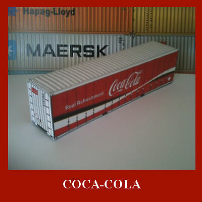 Coca-Cola Shipping Container Model Card Kits OO 1:76 Scale 40ft x 3 + 1 x 20
