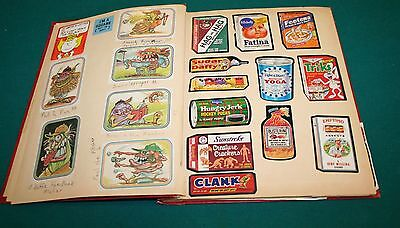 1970's Scrapbook Wacky Packages Wacky Cards Stickers