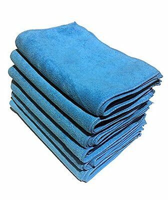 [36 Pack] Microfiber Cleaning Cloths 100% High Quality Blue Color Reusable