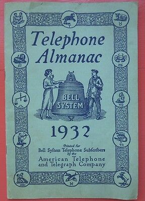1932 AT&T Telephone Bell System Almanac