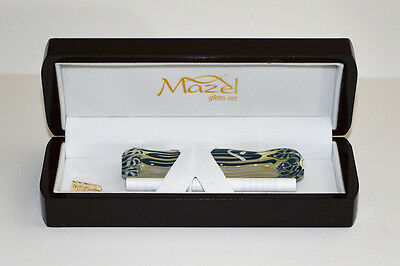 Magnificent Mezuzah-Hand Blown Art Glass W/ Laquered Wood Gift Presintation Case