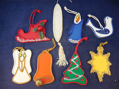 Handmade Wooden Ornament Set Of 8