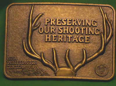 NRA WHITTINGTON CENTER Preserving Our Shooting Heritage Brass BELT BUCKLE