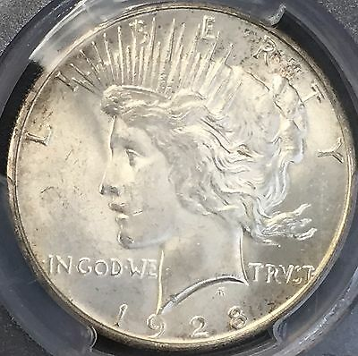 1928 S Peace Silver Dollar Pcgs Ms 63 Better Date Beautiful Bu Coin Nice Luster