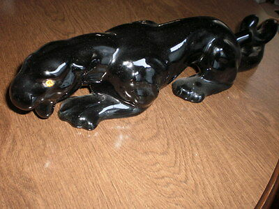 Black  Panther decorative  ceramic vintage  as shown great coffe table display