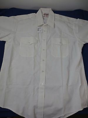 Elbeco Wings Short Sleeve Uniform Work Shirt White Size 18 NWT Details