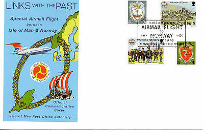 1979 Special Airmail Flight Between Isle of Man & Norway Links with Past / Oslo