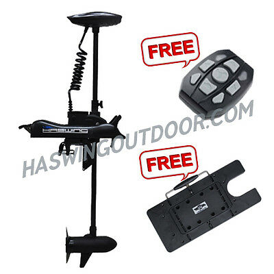 Haswing - Cayman-B 55Lb Bow Mount Trolling Motor Black 12V Remote+Quick Release