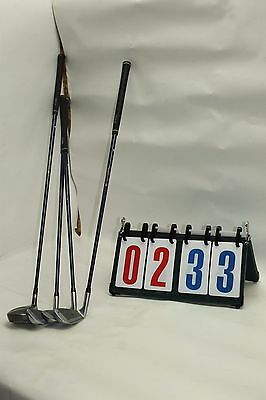 Lot of 4 Whip Lash 2 Blue Golf Club Set Some Scuffs and Scratches 5 7 9 FO
