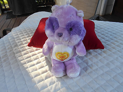 "Vintage 1984 Kenner 13"" Bright Heart Raccoon Care Bear Cousin Plush"
