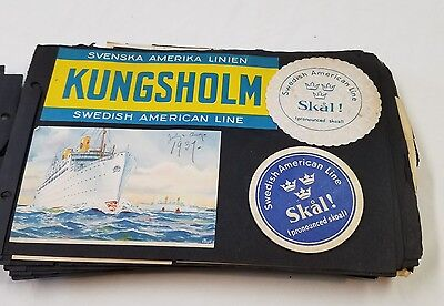 Swedish America - Scrapbook from Kungsholm 1937 Cruise