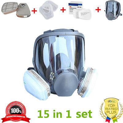 15 in 1 For 3M 6800 Dust Gas Mask Respirator Painting Spraying Filter Cartridge