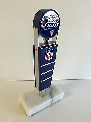 """Bud Light NFL Beer Tap Handle Classic Logo ~ NEW In Box & F/Ship ~ 7.25"""" Short"""