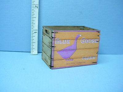 "Miniature Tall Assembled Crate /""General Store/"" Laser Creations 1//12"