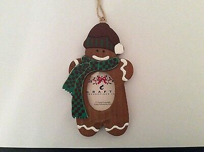 Gingerbread Picture Frame Ornament NEW