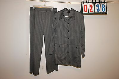 Lot of 2 New York and Company Mens Suit Size M Gray Striped