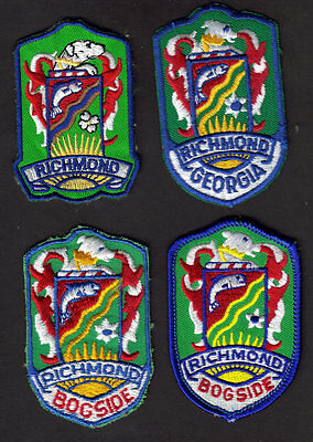 Boy Scouts Canada 4 Four Richmond B.c. Embroidered Patches Different