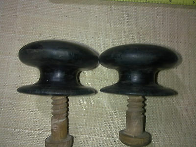 wooden knobs x 2, 60 mm, antique