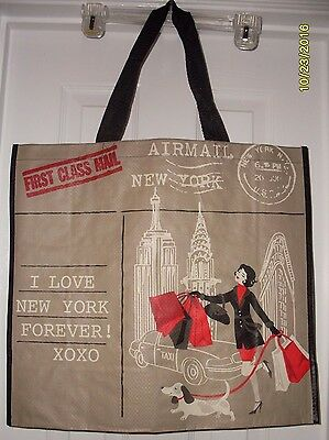 Piebald Dachshund Dog Large 100% Recyclable Reusable Eco Shopping Tote Bag NY