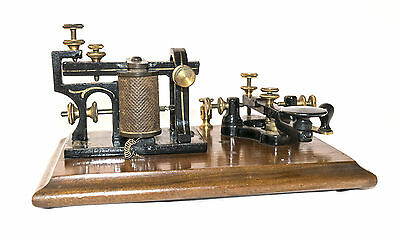 FANTASTIC PATRICK & CARTER PREMIUM LEARNER TELEGRAPH APPARATUS KEY/SOUNDER c1877