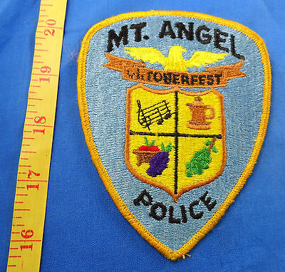 Old Worn Mt Angel Oregon Police Embroidered Cloth Patch