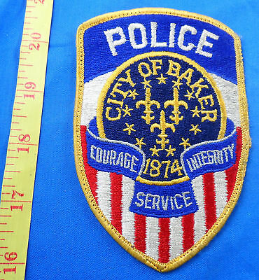 Old Worn City Of Baker Oregon Police Embroidered Cloth Patch