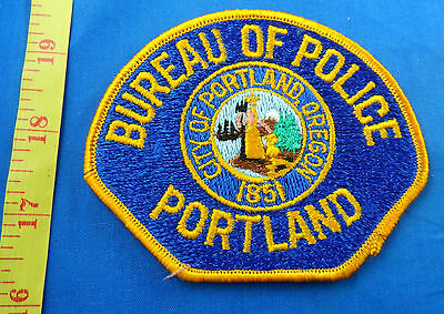 Portland Oregon Bureau Of Police Fully Embroidered Cloth Patch