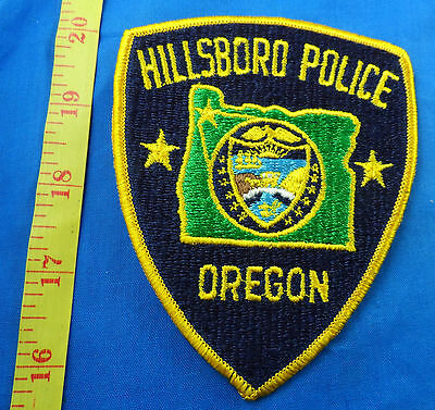 Hillsboro Oregon Police Embroidered Cloth Patch