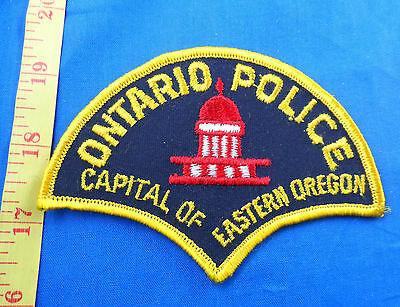 "Ontario Oregon Police Embroidered Cloth Patch -""capital Of Eastern Oregon"""