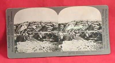 Vintage Keystone Stereoview Card of WW I French Trenches