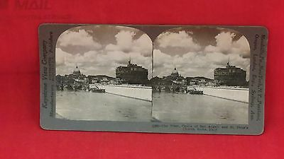 Vintage Keystone Stereoview Card - The Tiber River, Rome Italy