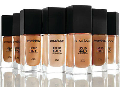 Smashbox Liquid Halo HD Foundation SHADE 4 Oil Free & Photo Finish Sam SPF15 NIB