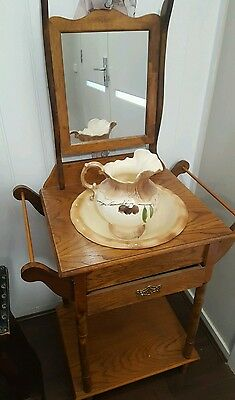 Vintage Wash Stand with Jug and Bowl