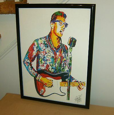 Buddy Holly, Vocals, Guitar Player, Guitarist, Rock & Roll, 18x24 POSTER w/COA