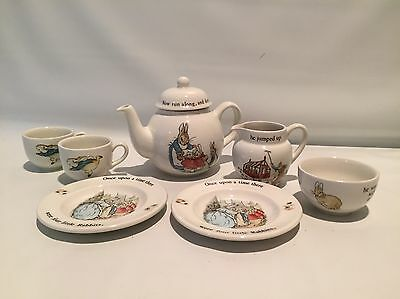 Wedgwood Peter Rabbit 8 pc Tea Set Vintage  BOX INCLUDED