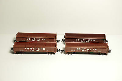 N Scale - Southern Gondolas - Set Of 4 - Exc Cond- Worth A Look.