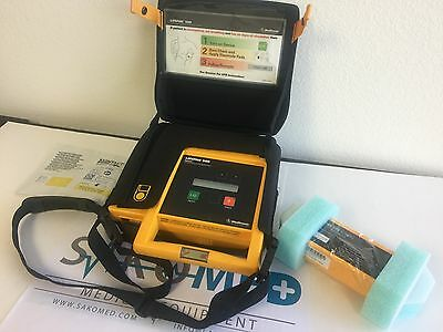 Physio Control 500 Biphasic AED with NEW Batetry, NEW Pad and carry bag/TESTED