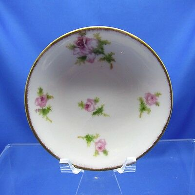 Antique French Limoges JPL, Rose Pattern Butter Pat 3 Pieces